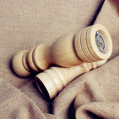 1 pcs Wooden Salt Pepper Mills Spice Grinders Shaker Pots Natural Rubber wood