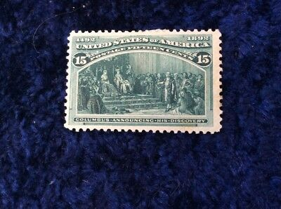 United States of America 1893 Columbian Exposition 15 Cent Green Mounted Mint