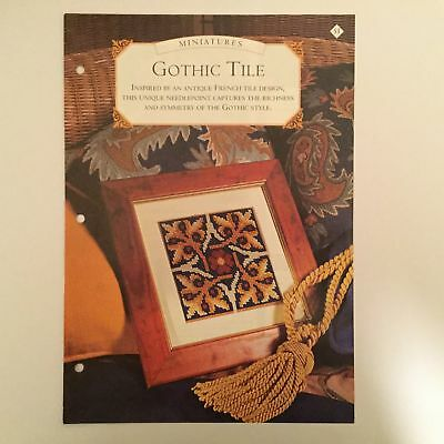 Needlework pattern: Gothic tile tapestry design and instructions