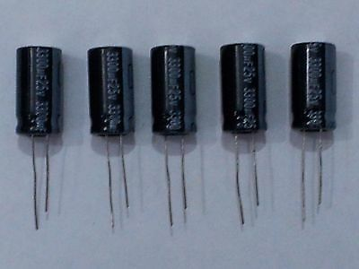 3300Uf 25V 105C Electrolytic Capacitors Pack Of 5
