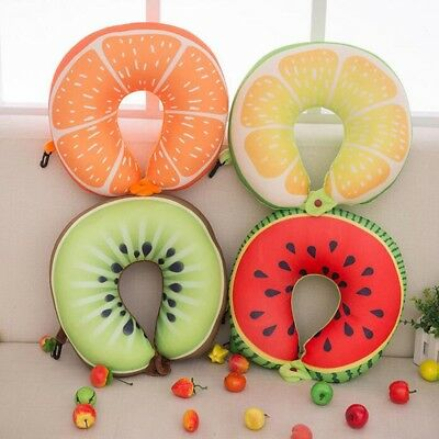 U Shaped Neck Support/ Travel Pillow/ Cushion *high Quality* Fruit Design