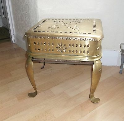 Victorian Ornate Brass Footman Kettle Stand Or Plant Stand