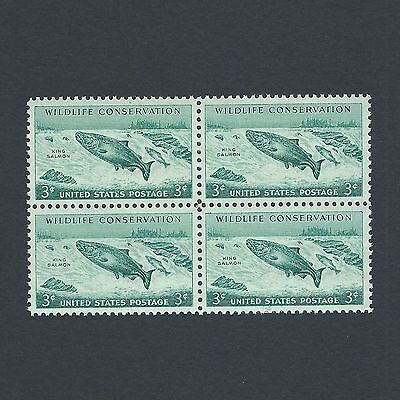 Wildlife Conservation:King Salmon - Vintage Mint Set of 4 Stamps 61 Years Old!