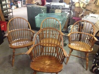 4  Windsor Arm Chair W/Star Makers Mark USED