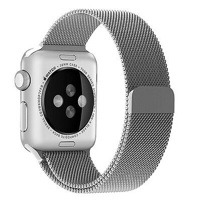 Silver Stainless Mesh Metal Band Strap For Apple Watch 42mm Milanese