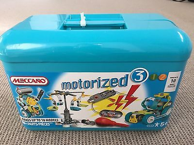 Meccano Construction set Motorized 3 (10 models) with box - complete set