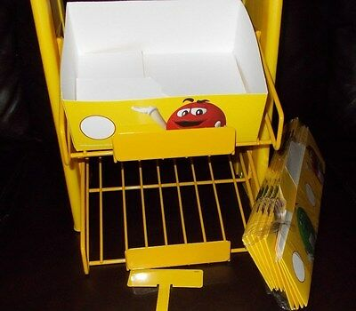 M&M Mars Collectors Counter Rack Metal Display Shelf  Rack 2 - Tier New !