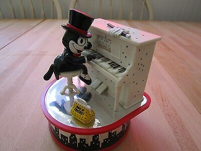 Enesco Felix the Cat motion Music box 1987 working