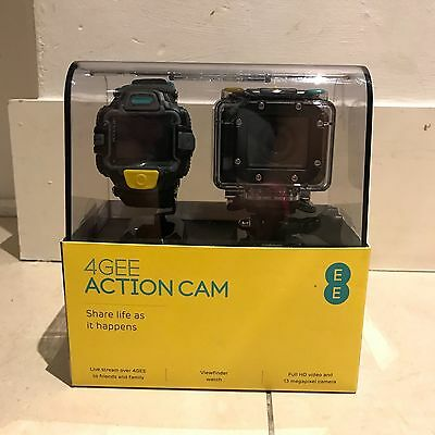 4GEE Action Cam with Waterproof Viewfinder Watch unlocked