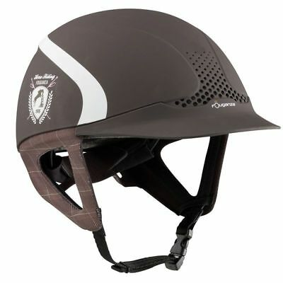 Safety Jump Horse Riding Helmet Ventilated Troxel Hat Comfort Sport Brown Safe