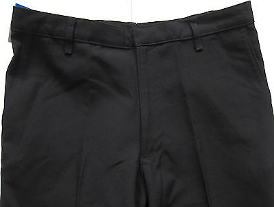 New Marks & Spencer Boys Black Classic Leg School Trousers Age 14-15 Years x 1