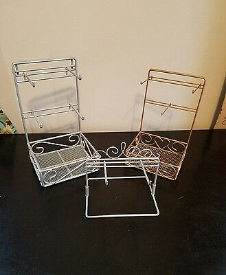 Lot of 3 jewelry display stands