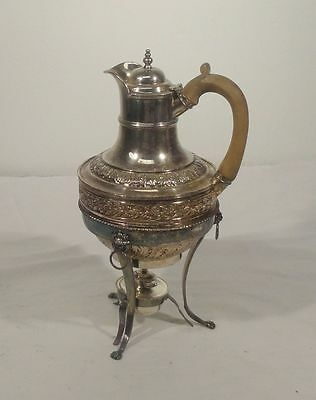 Antique Old Sheffield Silver Plate Teapot Pitcher Kettle Silver on Copper As Is