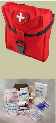 Elite First Aid New Platoon Kit  FA181 - RED Pouch With MOLLE System Straps