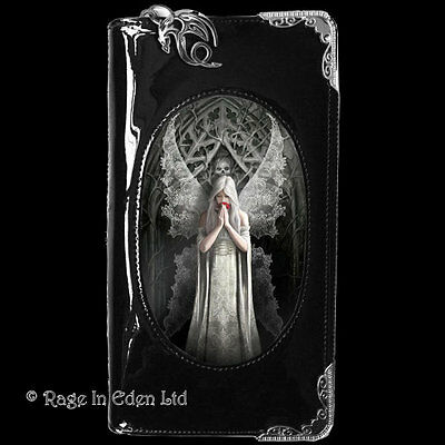 ONLY LOVE REMAINS 3D Lenticular Goth Angel Art PVC Purse / Wallet By Anne Stokes