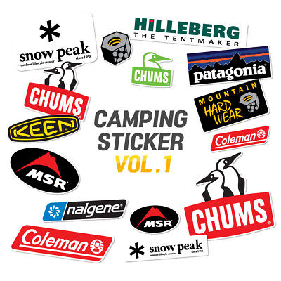 Outdoor Vol.1 Camping Suitcase Skateboard Laptop Removable Patagonia Stickers