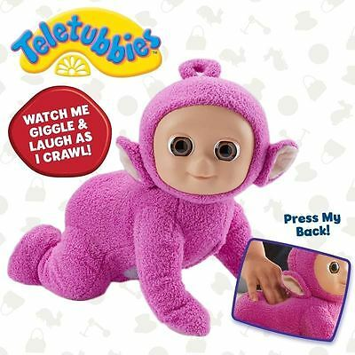 Teletubbies ~ Shuffle and Giggle Tiddly Tubby Ping ~ Soft Toy Crawling Action
