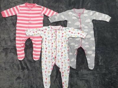 ** Next and M&S Sleepsuit Girls Bundle 6-9 Months **