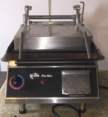 Star PRO MAX CG14 CG14I GROOVED PLATENS PANINI GRILL GRIDDLE SANDWICH MAKER