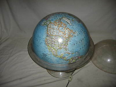 Vintage National Geographic World Globe 1968 Lighted W/ Plastic Stand 38 Inch