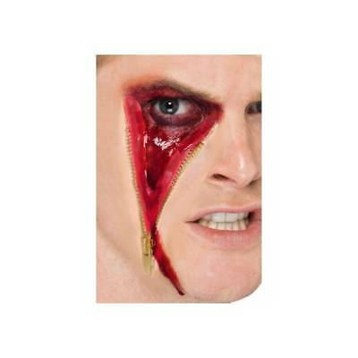 **SALE** Smiffys Special Effects ZIP FACE SCAR FX Latex Scar Halloween Make Up