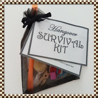 HANGOVER SURVIVAL KIT- Novelty Bride To Be - Stag Party- Wedding Favours