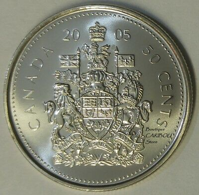 2005 Canada 50 Cents Coat of Arms BU