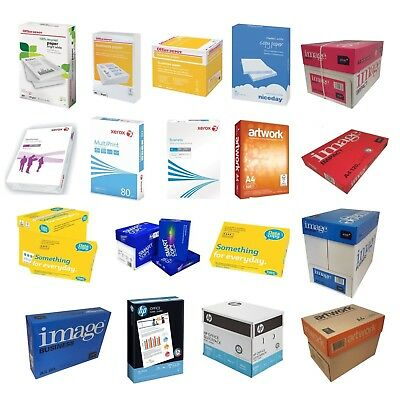 Large Range Of A4 White 80Gsm Copy Paper. 2500 Sheets Per Box, Select Type
