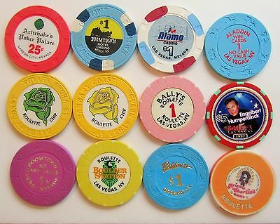 Nevada Casinos - Lot(A).... 12   OBSOLETE CASINO CHIPs