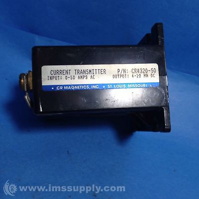 Cr Magnetics Cr4320-50 Current Transmitter 50Amp 4-20 Ma Rsip