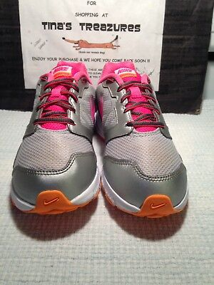 Girl's Nike Downshifter 6 Silver/Pink Athletic Shoe SIZE 3Y