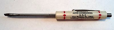 VINTAGE SMALL POCKET SCREW DRIVER Schrock's Auto Accessories NEW FLORENCE, PA