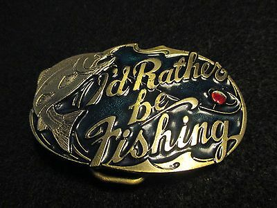 1985 nos belt buckle(  I'd rather be fishing ) US made