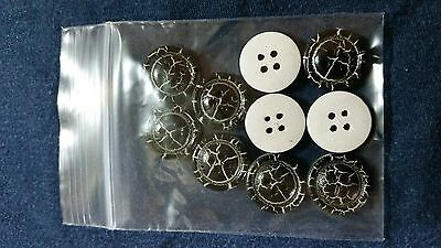 10 Pcs 15mm 4-hole Wooden Buttons (Black)