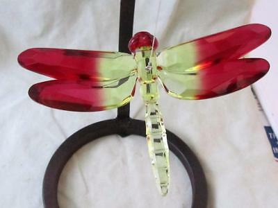 Dragonfly Ganz Crystal Expressions Acrylic Sun Catcher Yellow Red Free Ship