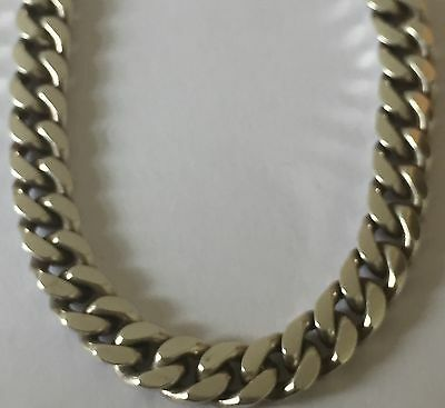 "Heavy 925 Sterling Silver 6mm 18""Curb Chain Necklace Curb Chain 52g Hallmarked"