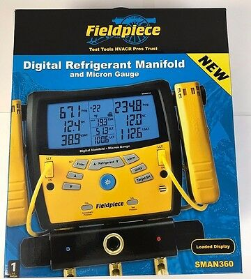 New Fieldpiece SMAN360 3-Port Digital Manifold With Micron Gauge