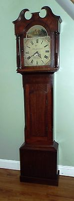 Long Case Clock, Painted face made by J Waldfogel