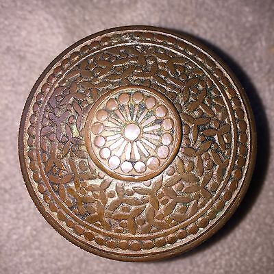 Antique  Y & T Eastlake  Rice Design Solid Bronze Door Knob #1