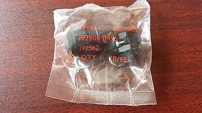ITT Cannon Trident Connector Backshell, Sealed Cable Clamp 14, 192900-0496