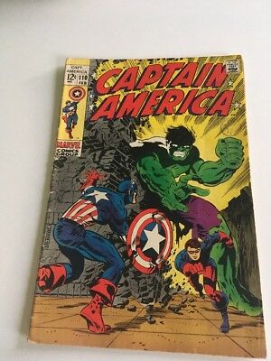 CAPTAIN AMERICA #110   Silver Age Marvel Comcs 1969 Original