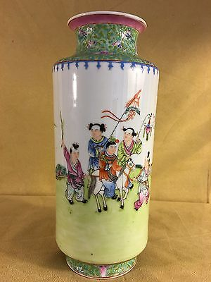An Old And Fine Fencai 'children Play' Vase, Early 20Th Republic Period
