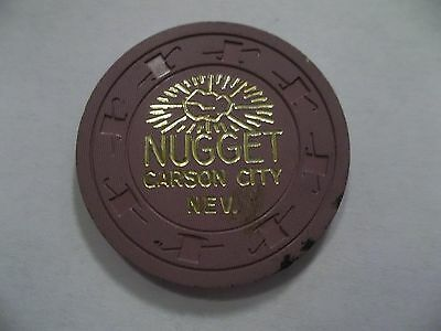 Rare Carson City Nugget 25 Cent Casino Chip Nevada Nv C&j Lqqk Hotbid22