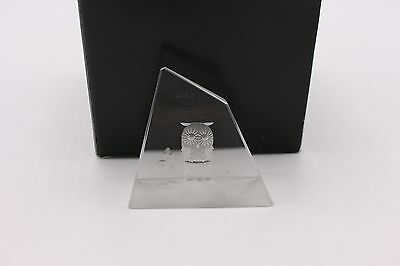 Steinbach Owl Optical Crystal Paperweight