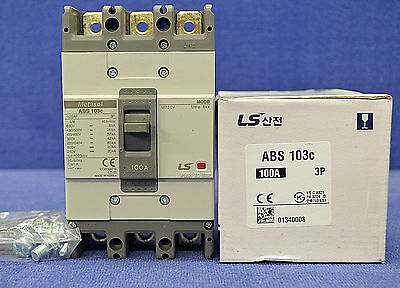 LS Metasol ABS 103c Molded case Circuit Breaker 100A NEU OVP NEW