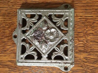 Vintage Metal Ornate Church Pew Attendance Offering Card Salvage Nice!