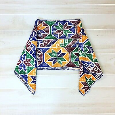 Vintage Embroidered Mexican Guatemalan Poncho Cape