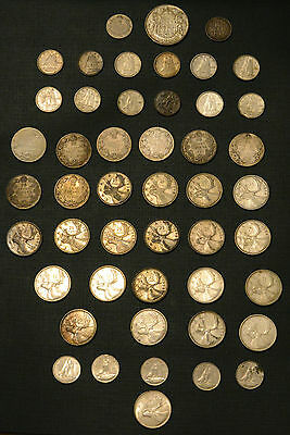 Canadian currency lot: paper bills, silver coins, nickel coins