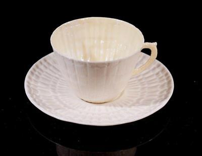 Beautiful Belleek Green Mark Cup And Saucer