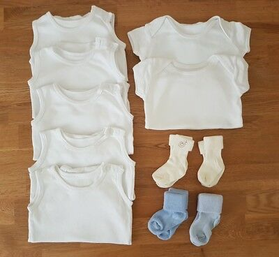 0-3 months boys vests and socks bundle - 11 items